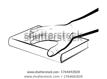 Man's Hand Stack of Bibles, Isolated Background Stock photo © Qingwa
