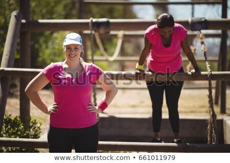 Portret szczęśliwy kobieta boot Zdjęcia stock © wavebreak_media