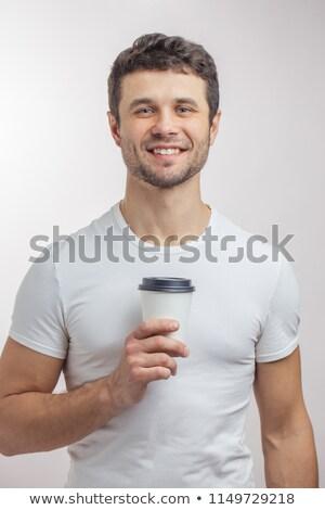 Genç tek kullanımlık fincan beyaz Çin Stok fotoğraf © wavebreak_media
