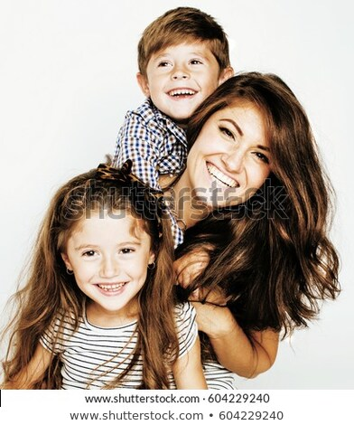 Portrait of mother with daughter and son Stock photo © IS2
