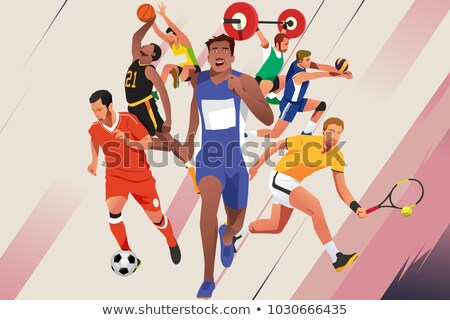 Basketball Players Lifting A Player Stockfoto © Artisticco