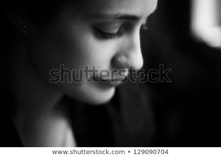 肖像 悲しい 若い女性 見える カメラ ストックフォト © deandrobot