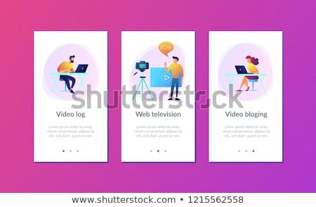 Bloging app interface template. Stock photo © RAStudio