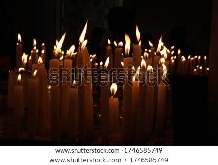 Церкви · свечей · темно · католический · Лион - Сток-фото © vapi