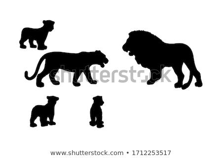 Cartoon Lioness Cub Sign Stock photo © cthoman