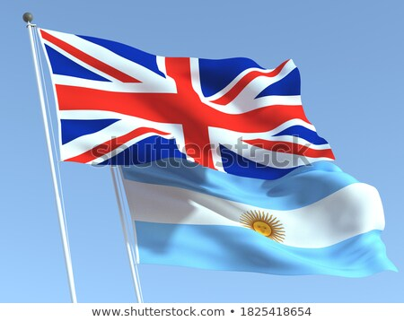 Two waving flags of UK and argentina Stock photo © MikhailMishchenko