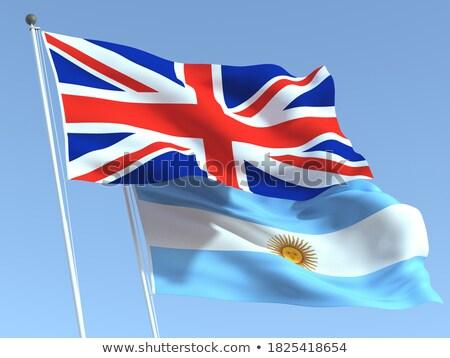 Two waving flags of UK and argentina Stock photo © MikhailMishchenko