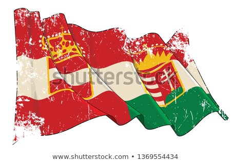Textured Grunge Waving Flag of Austria-Hungary Stock photo © nazlisart