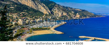 Stock photo: Colorful Cote d Azur town of Menton harbor and architecture view