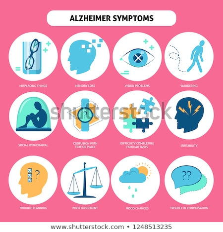 Alzheimers Disease Collection Icons Set Vector Stock photo © pikepicture
