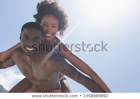 Portret geschikt man mooie vrouw Stockfoto © wavebreak_media