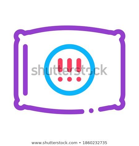 Travesseiro ícone ilustração vetor assinar Foto stock © pikepicture