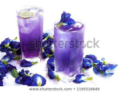 Hideg kék lila tea pillangó citrom Stock fotó © furmanphoto
