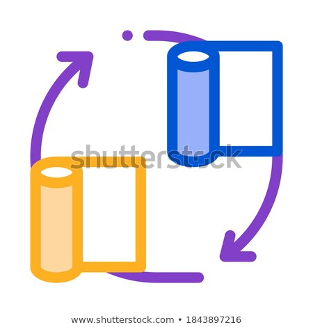 carpet renewal icon vector outline illustration Stock photo © pikepicture