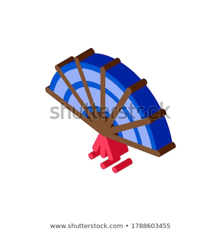 South Korea Fan isometric icon vector illustration Stock photo © pikepicture