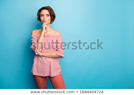Pretty woman with brown hair Stock photo © Paha_L