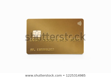 Empty gold plastic card Stock photo © IMaster