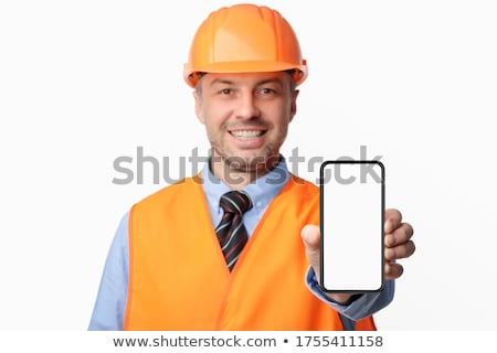 electrician showing phone stock photo © photography33