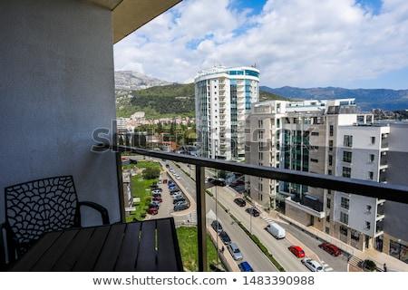 Balkon deniz güneş mimari kule Stok fotoğraf © zzve