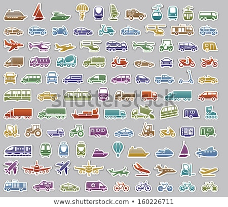 104 Transport icons set stickers Stock photo © Ecelop
