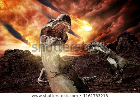Dinosaurus 3d render warmte brand groot Stockfoto © Elenarts