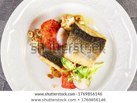 Cuit poissons filet dîner Photo stock © M-studio
