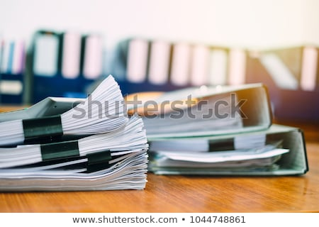 table with notes referee Stock photo © OleksandrO