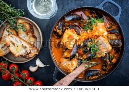 Balık güveç akşam yemeği öğle yemeği çorba patates Stok fotoğraf © neillangan