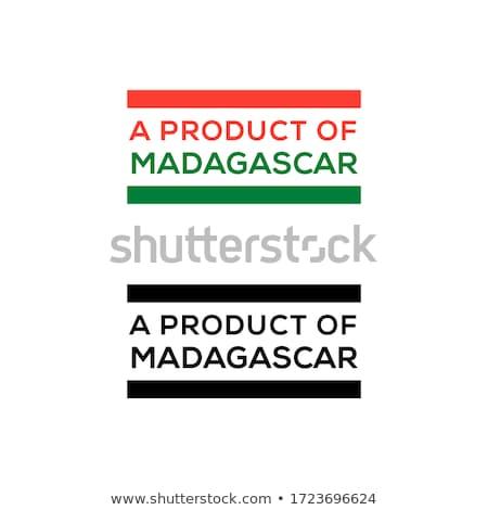 Madagaszkár piros bélyeg felirat pecsét izolált Stock fotó © tashatuvango