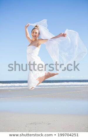 пляж · женщину · Бикини · морем - Сток-фото © wavebreak_media