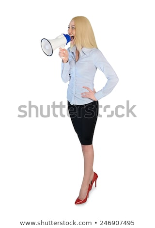 Donna d'affari isolato business donna lavoro corpo Foto d'archivio © fuzzbones0