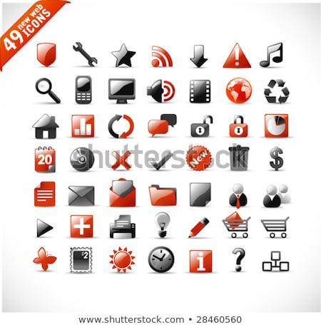 Indirmek kırmızı vektör web simgesi dijital veri Stok fotoğraf © rizwanali3d