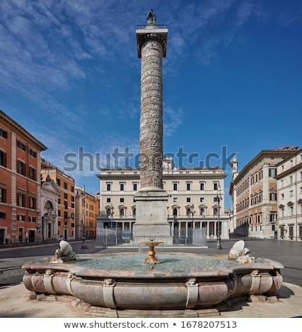 column of marcus aurelius in rome italy stock photo © vladacanon
