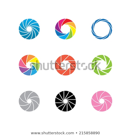 Abstract colorful camera shutter logo Stock photo © netkov1
