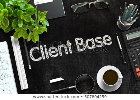 client base handwritten on black chalkboard 3d rendering stock photo © tashatuvango