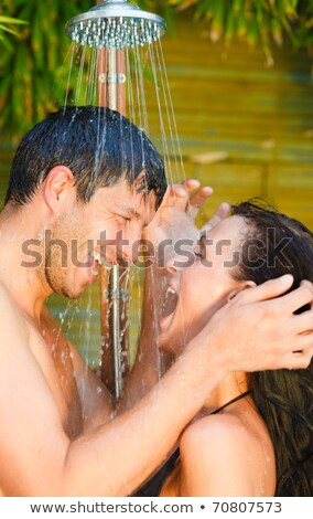 Man in outdoor shower Stock photo © IS2