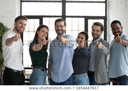 Six collègues permanent bureau affaires portrait Photo stock © IS2