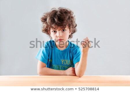 Nice мальчика подобно домовой Сток-фото © acidgrey