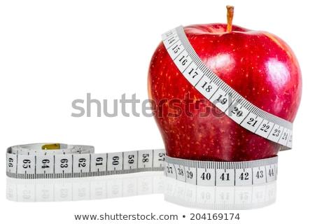meetlint · rond · rode · appel · symbool · dieet · Geel - stockfoto © Illia