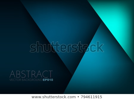 turquoise triangle background stock photo © studiostoks