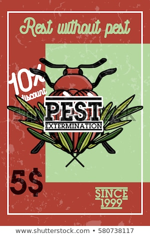 Szín klasszikus kártevő szalag bogárirtás rovarok Stock fotó © netkov1