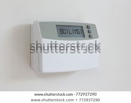 Vintage digital thermostat - Covert in dust - Boiling Stock photo © michaklootwijk