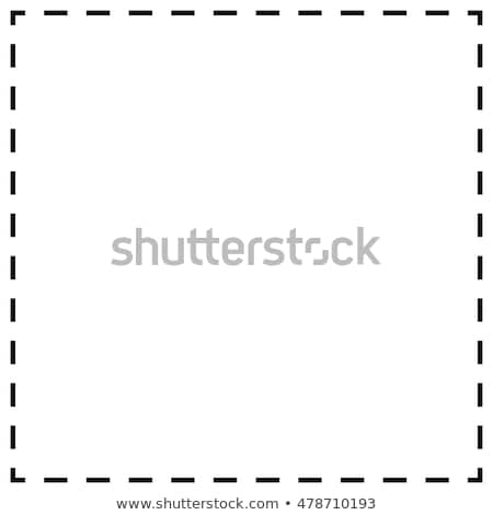 Background template with dash line frame Stock photo © bluering