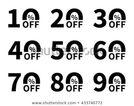 Forró ajánlat százalék el ár csökkentés Stock fotó © robuart
