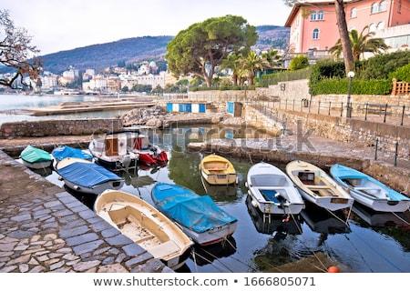 Cidade pequeno porto ver céu cidade Foto stock © xbrchx