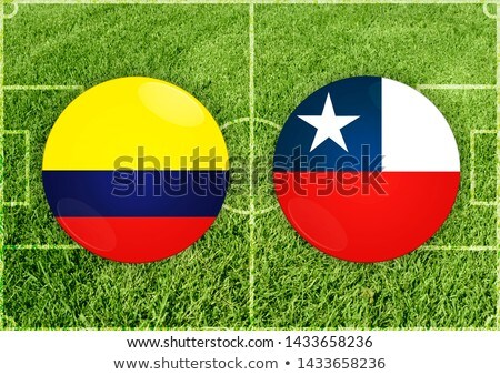 Colômbia vs pimenta futebol combinar ilustração Foto stock © olira