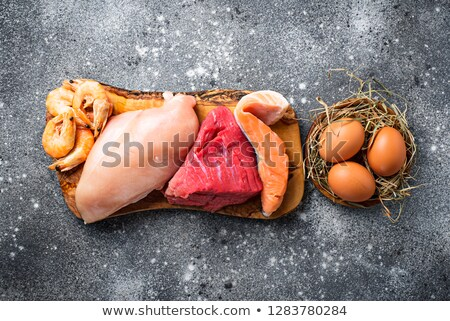 Various raw meat, sources of animal protein Stock photo © furmanphoto