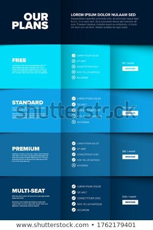 Produto versão vertical azul esquema Foto stock © orson