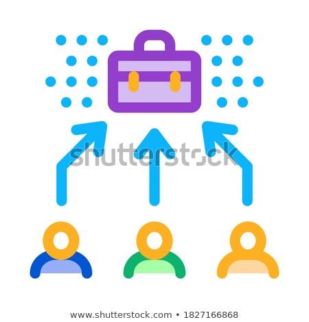 Egy állás ikon vektor skicc illusztráció Stock fotó © pikepicture