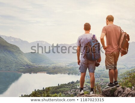 Man on a hiking trip Stock photo © photography33